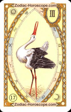 The stork, monthly Love and Health horoscope October Aquarius