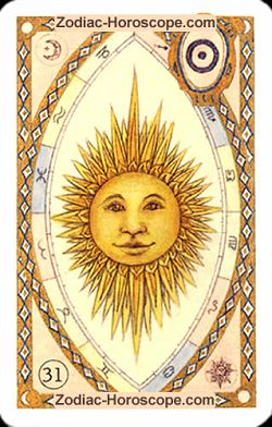 The sun, monthly Love and Health horoscope February Aquarius