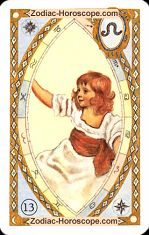 The child astrological Lenormand Tarot