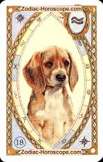 The dog astrological Lenormand Tarot