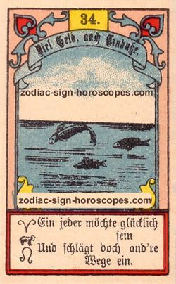 The fish antique Lenormand Tarot