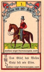 The rider antique Lenormand Tarot