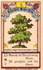 The tree antique Lenormand Tarot