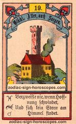 The tower antique Lenormand Tarot
