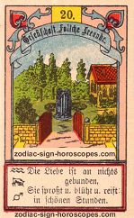 The garden antique Lenormand Tarot